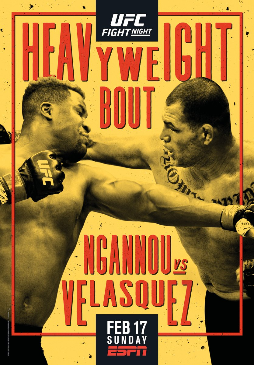 #UFCPhoenix just went old school 📰  The night two heavyweights collide 👊💥