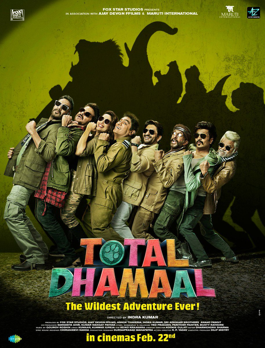 Get ready to ride on a roller-coaster of fun and laughter #TotalDhamaal Trailer out on 21st Jan  @ADFFilms @Indra_kumar_9 @foxstarhindi @saregamaglobal