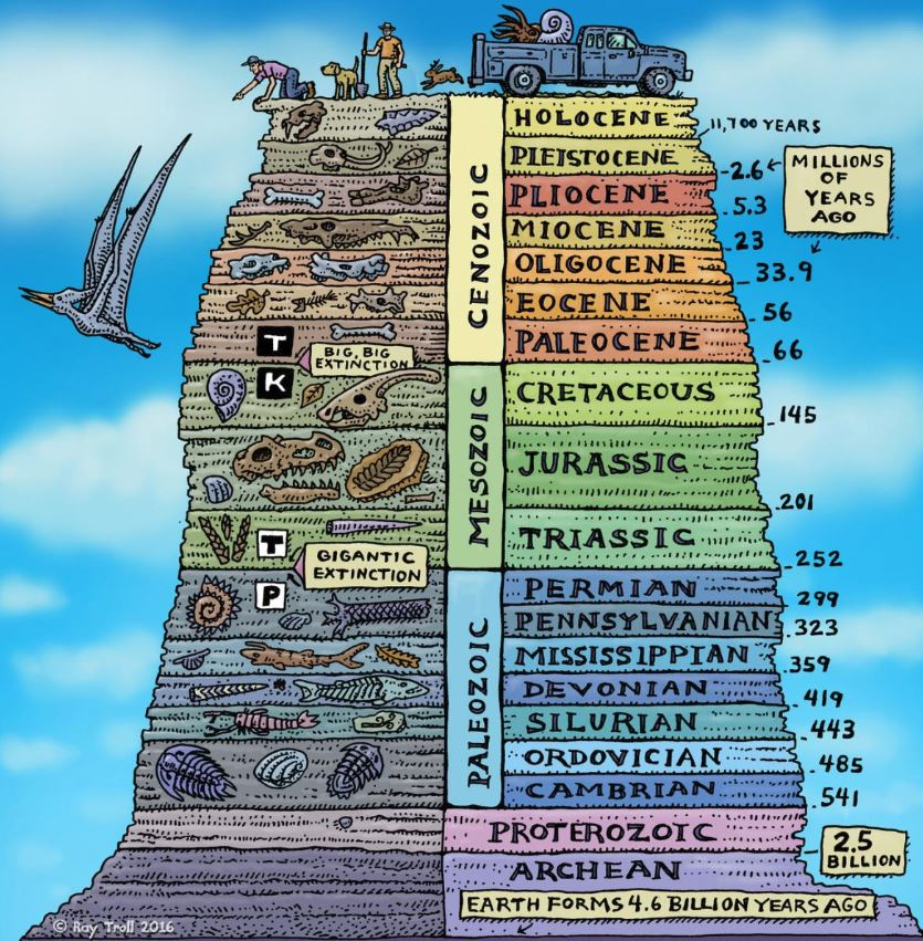 There are several million living species on Earth . But, only ~300k known fossil species.  Today is just one snapshot of time among millions in the past 600 million years where complex life has existed.   Let that sink in #FossilFriday  Ray Troll. <br>http://pic.twitter.com/CQKdKMzUfH