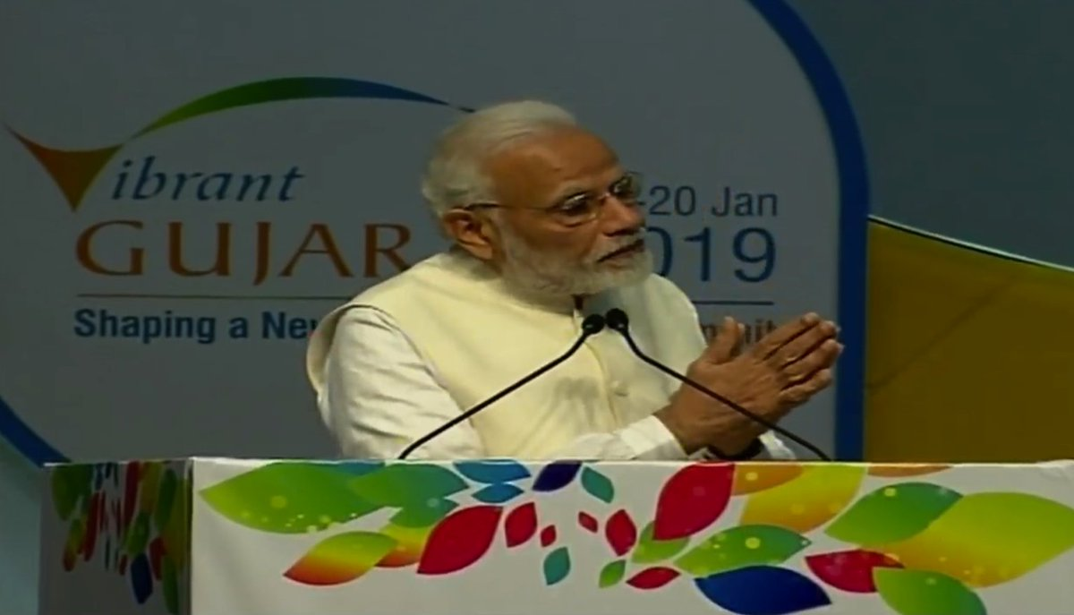 Those who visit India regularly would have felt a change in the air. The change is both in terms of direction and intensity. Over the last four years, the focus of my govt has been to reduce government and enhance governance: PM  #VibrantGujarat4NewIndia  https://t.co/E1c3AIhhFy