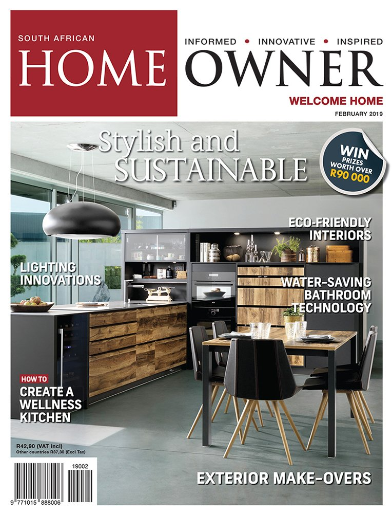Create a stylish, sustainable home with the Feb '19 issue of @SAHomeOwner, on shelf now! We show you how to create a wellness kitchen, enhance and beautify your home's exterior, and are giving away prizes worth over R90,000! Subscribe: https://t.co/ZlKM0e2y74