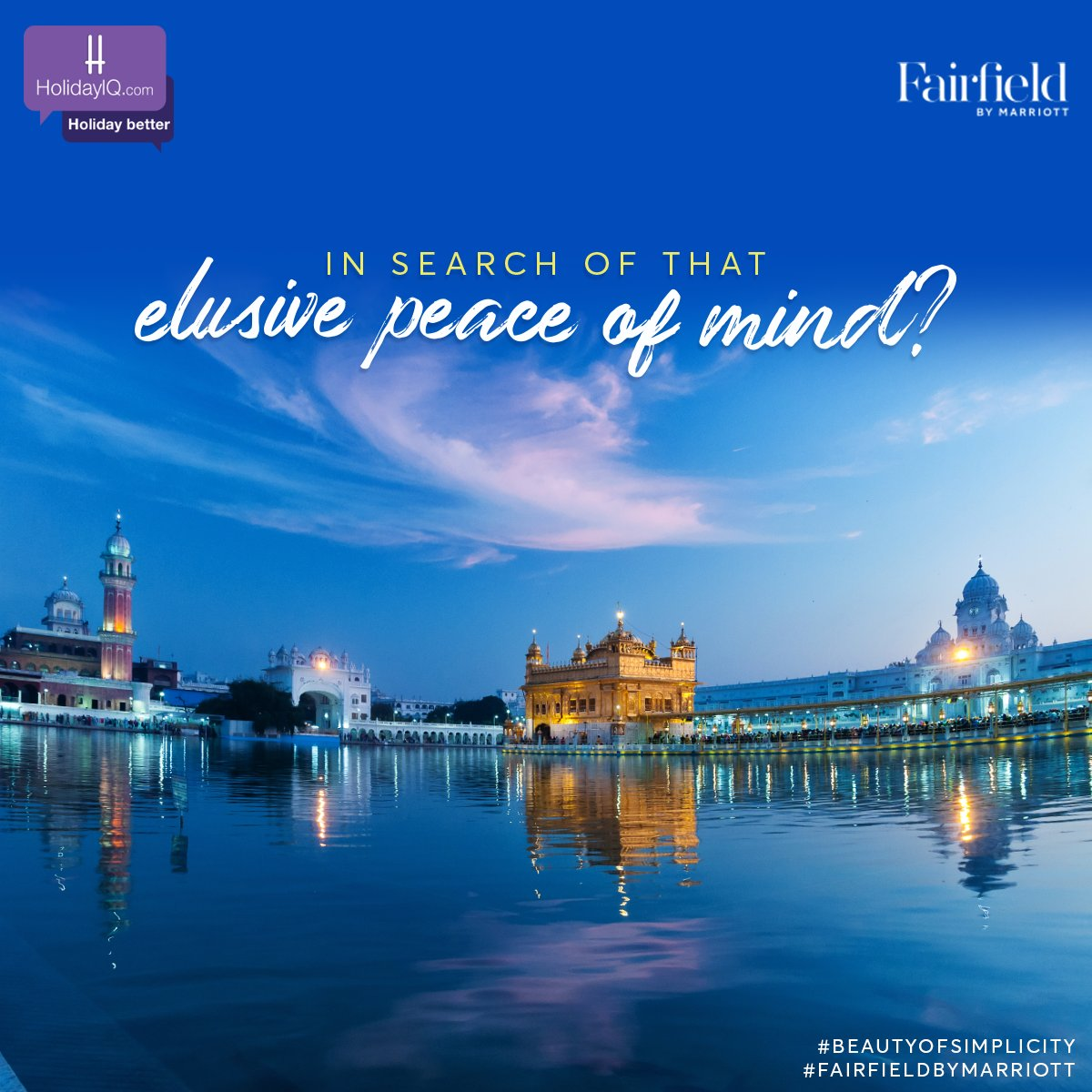Offer your prayers and respect this divine place of worship at Amritsar, Punjab.  Watch this space to know more and do share your thoughts in the comments section.  #BeautyOfSimplicity #FairfieldByMarriott #holidayiq #holidayiqcommunity https://t.co/OHvdbwh1Bq