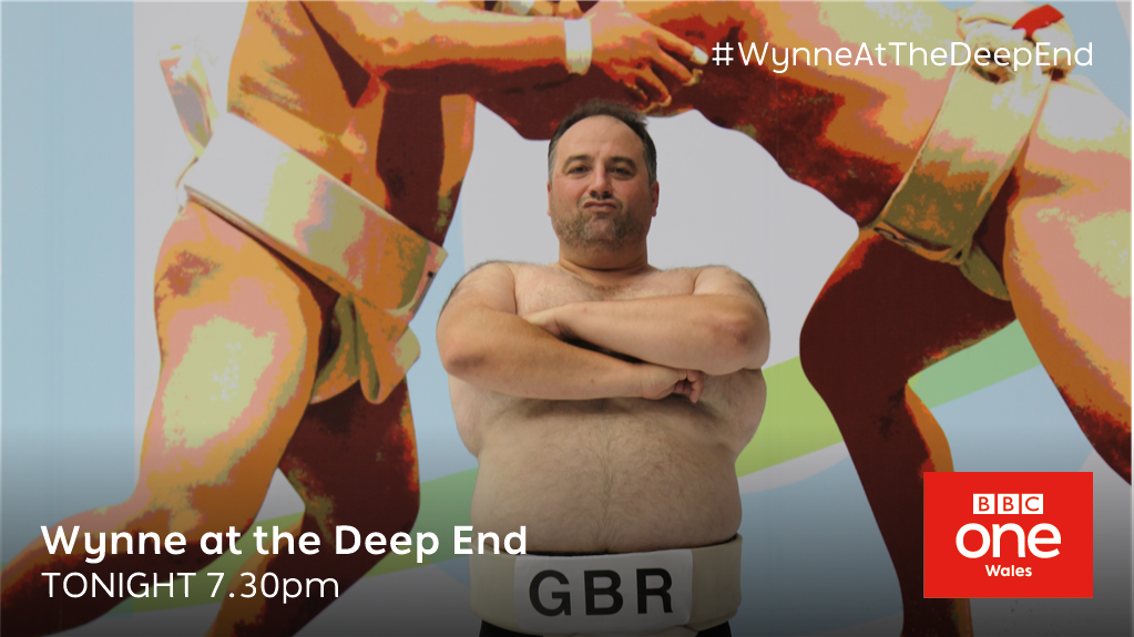 .@wynneevans faces his 'biggest' challenge yet. It can only be... #Sumo  ⭐ #WynneAtTheDeepEnd 📺 Tonight,  7.30pm - @BBCOne Wales