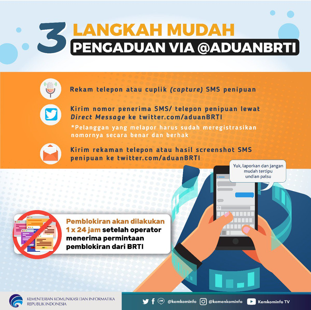 Kementerian Kominfo On Twitter Bosen Terima Sms Telp Penipuan
