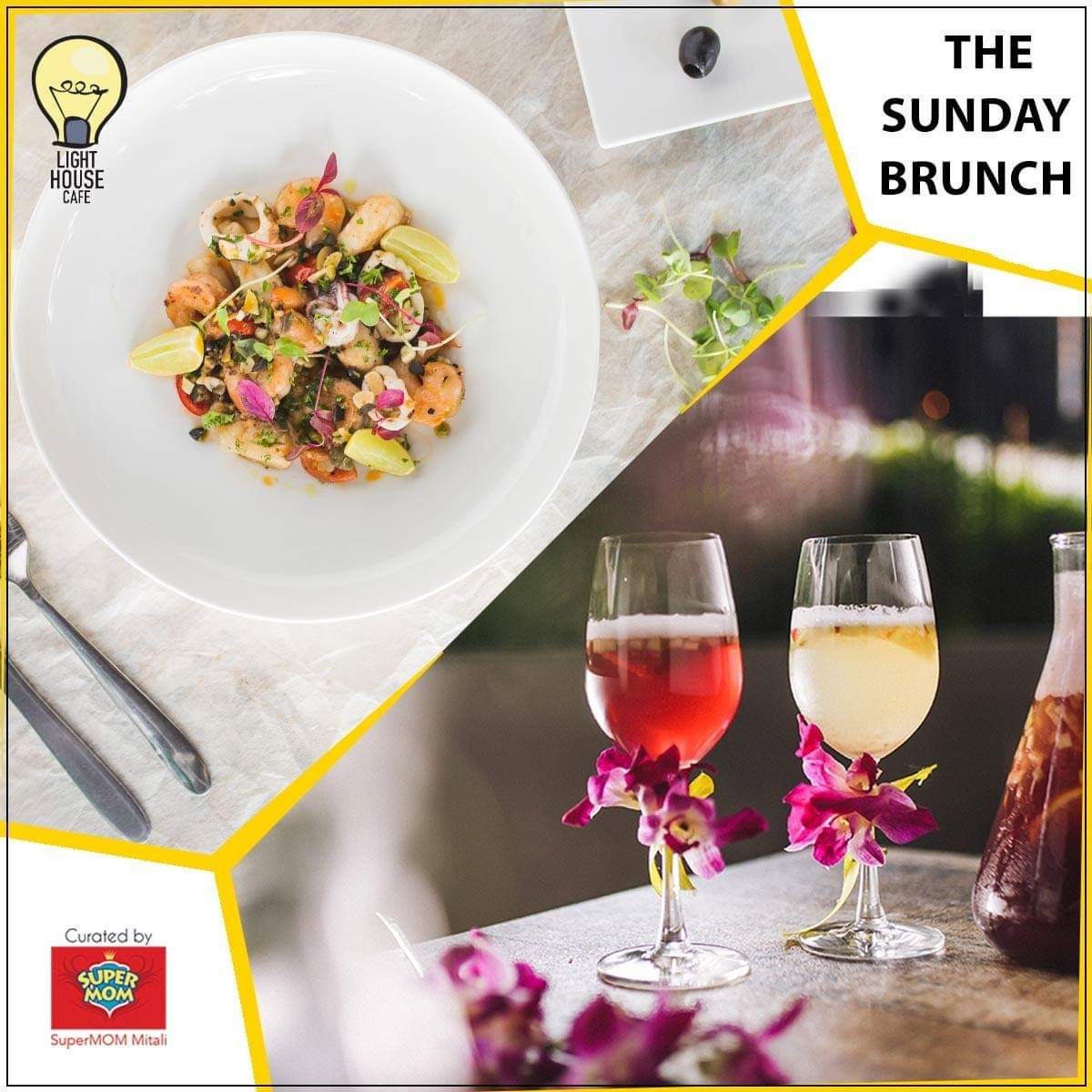 Spread your own sunshine with the exclusive Sunday Brunch at Light House Cafe !!  #LHC #Worli #Mumbai #Zomato #Blogpost #bloggers #Weekday #CurlyTales #Weekends #Thingstodo #Mumbaifoodie #Foodgasm #mumbaifood #indianblogger #dailyfoodfeed #blogspot #Beer #BeerFest #ChugFest