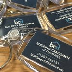 Image for the Tweet beginning: Branded keyrings by @SolwayPrint -