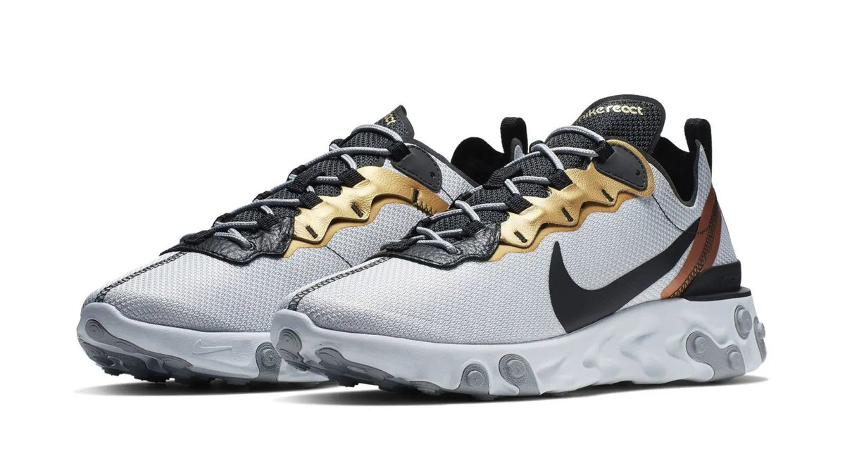 cf7c6cad2665 a new nike react element 55 with metallic accents has surfaced