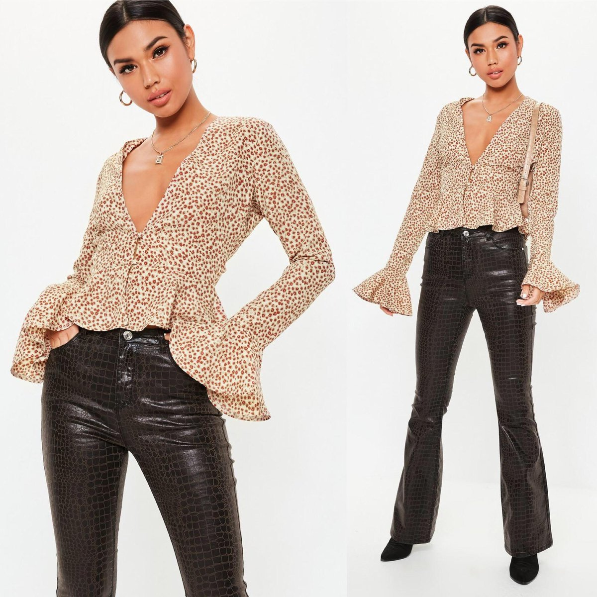Will we ever be over leopard print? 🐆✨Hit the link to shop the 'khaki leopard print peplum blouse' https://t.co/MUqqEU1KuN on site rn 💸💖