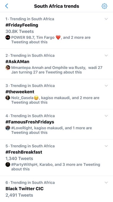 3 top 5 trends from one show 2 hours AFTER said show can only be thanks to YOU!! Rea leboga 🙏🏾😭 Photo