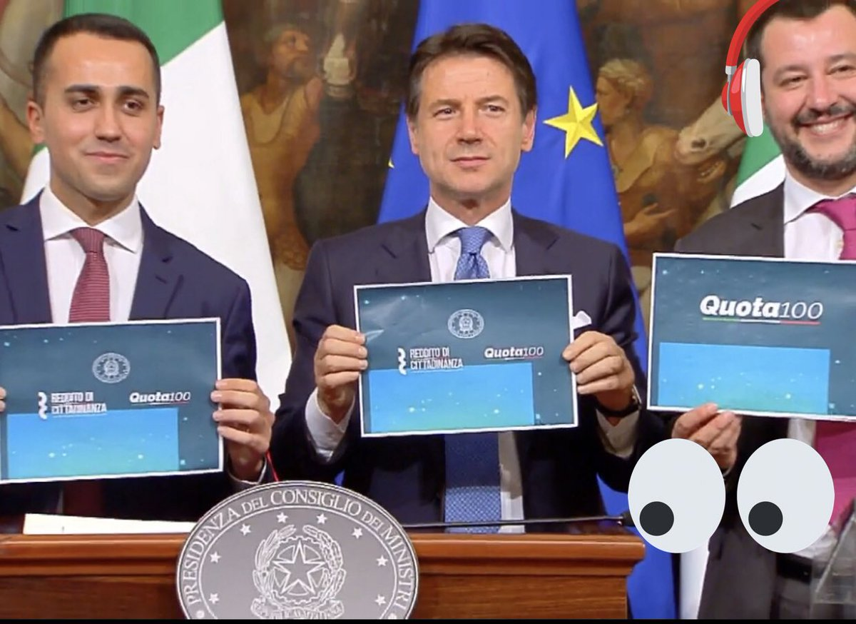 Vicepresidente del Consiglio italiano che si vergogna di rivendicare un provvedimento del suo governo - fatto