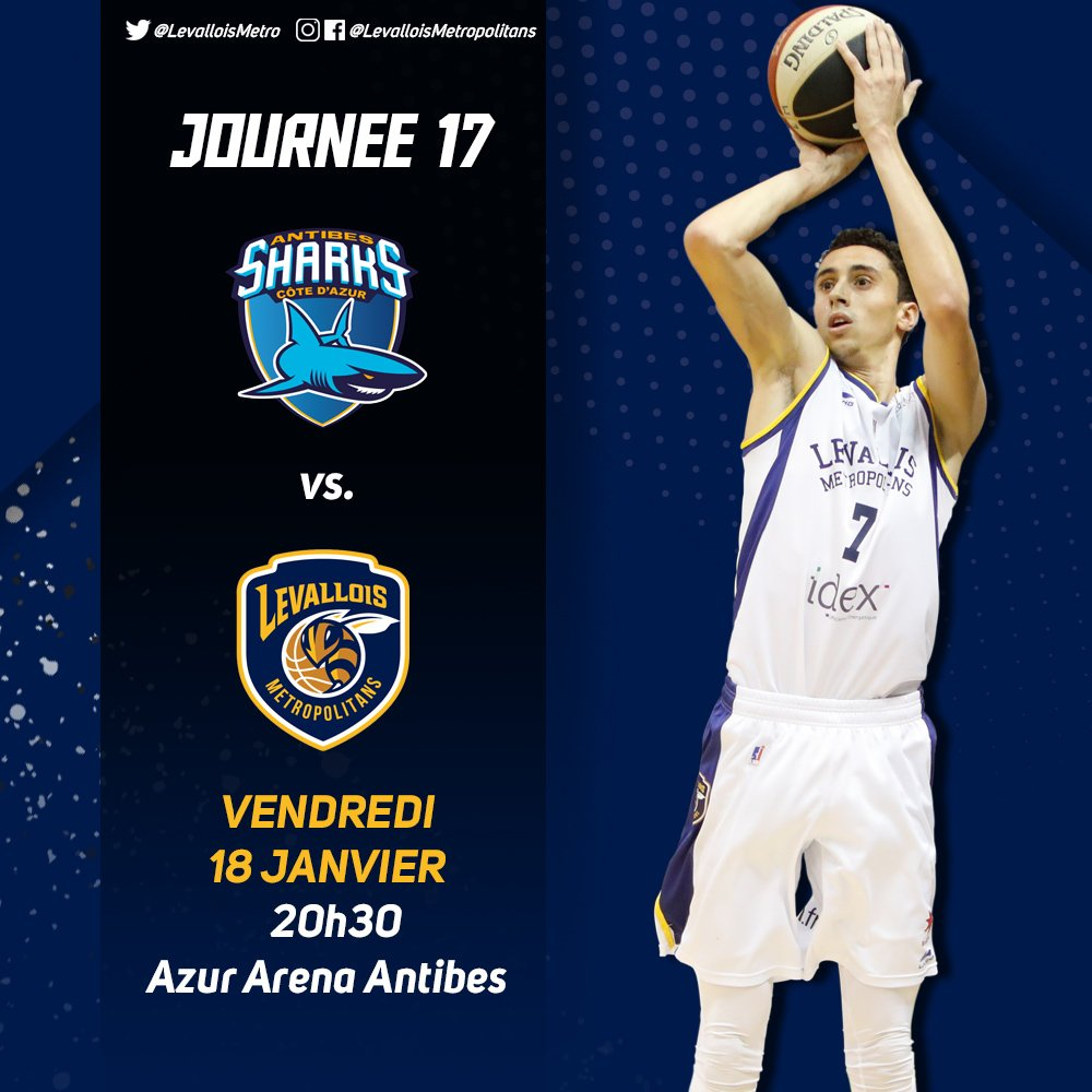 🏀 GAME DAY 🆚 @SharksAntibes  🏆 #J17 de #JeepElite 📍 Azur Arena Antibes ⌚ 20h30 https://t.co/WpRaJHmcw8