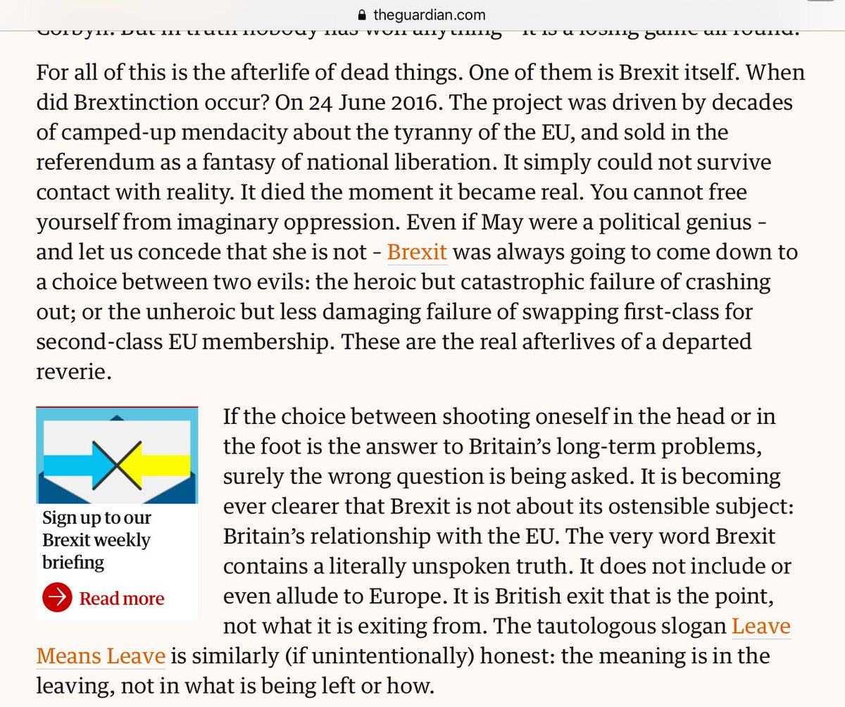 Very true from @fotoole - Brexit is the UK's reckoning with itself, not with Europe. https://t.co/vk6hUXk80N