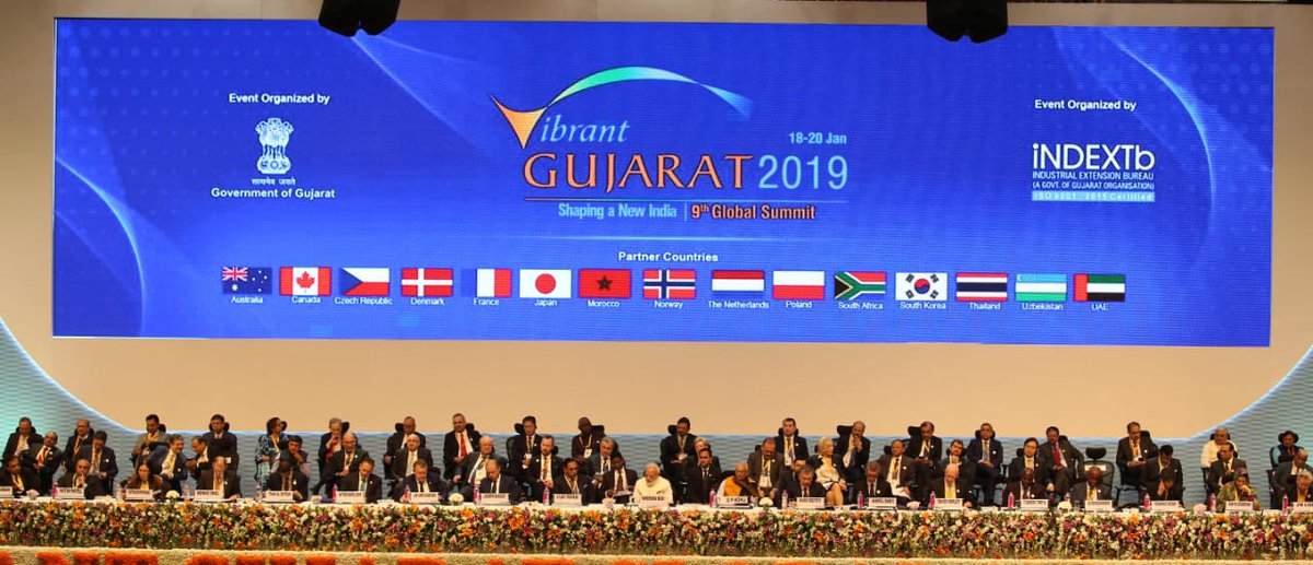 Highlights of investment commitments announced from the stage at Vibrant Gujarat Summit inaugural session