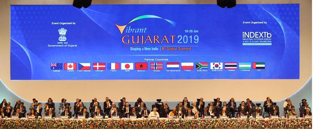 નયા ભારતના નિર્માણની નેમ સાથે નવમી વાયબ્રન્ટ ગુજરાત ગ્લોબલ સમિટનો  શુભારંભ કરાવતા પ્રધાન મંત્રી