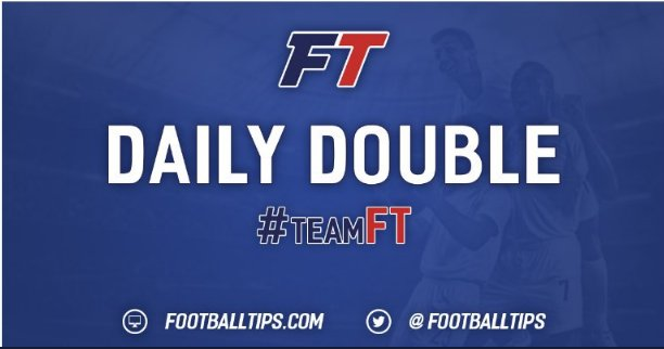 Who wants today's #DailyDouble tip? 🙌  Gone with a 21/10 tip for today HERE📱https://t.co/fJ5R3JFrKx                                   🚨 Starts at 7.45pm. 18+ only !! 🚨  #TeamFT ⚽️