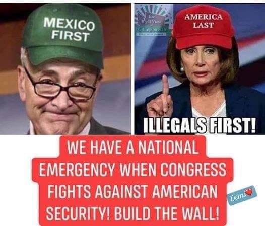 America First. #SecureOurBorder #BuildTheWall