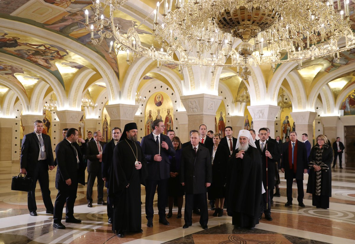 Concluding his official visit to Serbia, Vladimir Putin visited the Church of Saint Sava in Belgrade https://t.co/RGgEBdq7ps