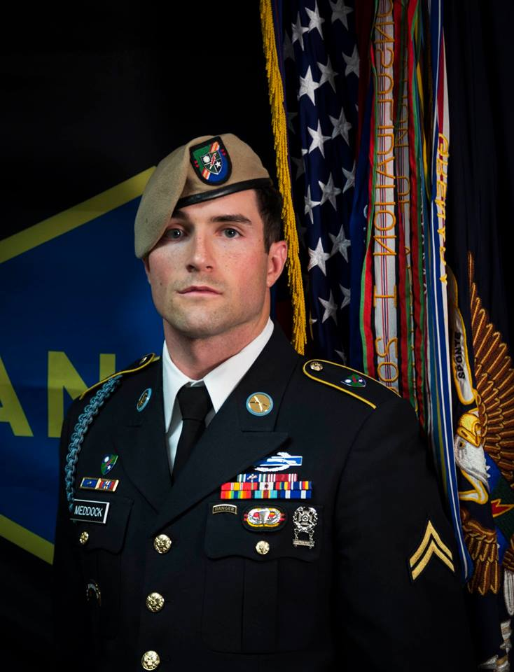 Army Ranger Sgt. Cameron A. Meddock, 26, of Spearman, Texas, died Jan. 17, 2019, in Landstuhl, Germany, as a result of wounds sustained from small arms fire on Jan. 12, 2019, in Badghis Province, Afghanistan.