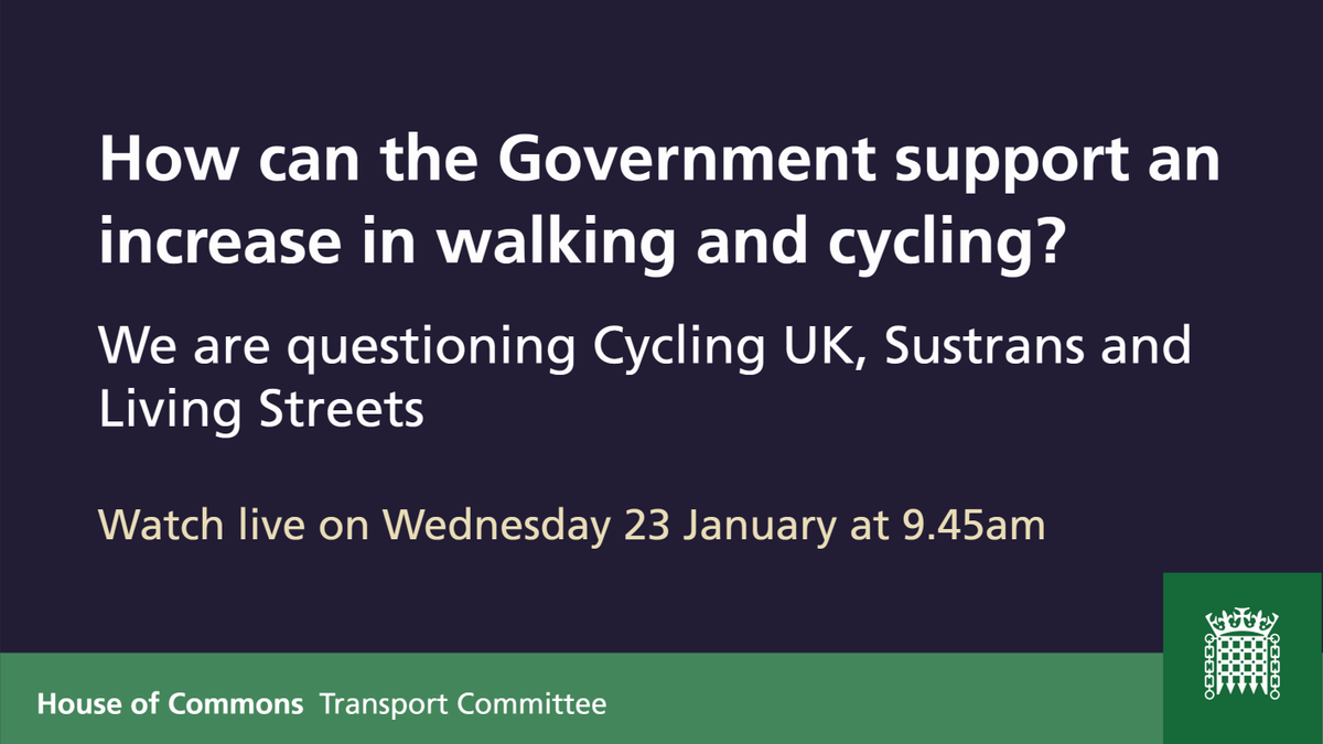 test Twitter Media - Next Wednesday we are questioning Roger Geffen from @WeAreCyclingUK, @JoeIrvinLS from @livingstreets and @ReWhite14 from @sustrans as part of our inquiry into #walking and #cycling.  Find out more about this session and our inquiry into active travel: https://t.co/zOu1Tp0tne https://t.co/jsWaep3luT