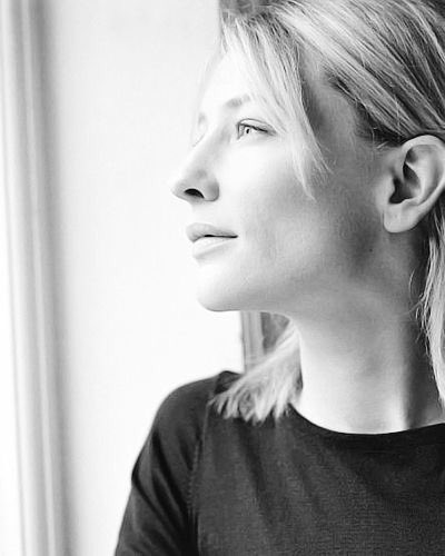 """""""I am happiest when I don't know what's coming next""""  Cate Blanchett  Photography © Sarah Dunn 1999 <br>http://pic.twitter.com/gG8cMrWF5J"""