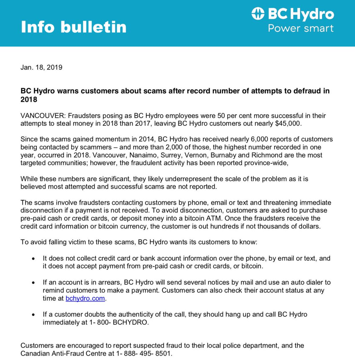 Bc Hydro Accounts Payable