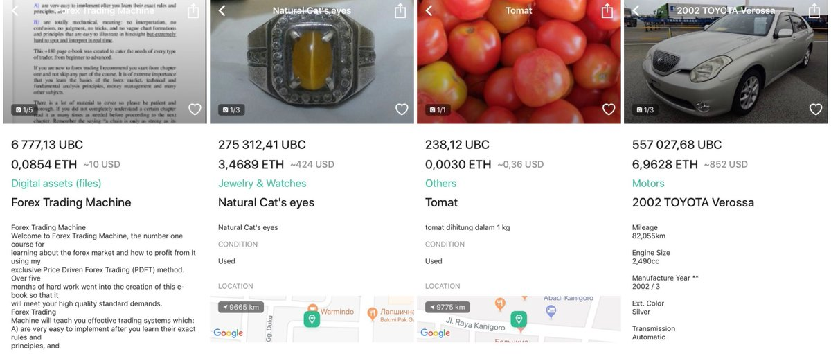 9a51b03cf92f ... listings created on Ubcoin Market: https://medium.com/ubcoin-blog/a- selection-of-unusual-items-on-ubcoin-market-aed0d861e013  …pic.twitter.com/cpf5p3tfld