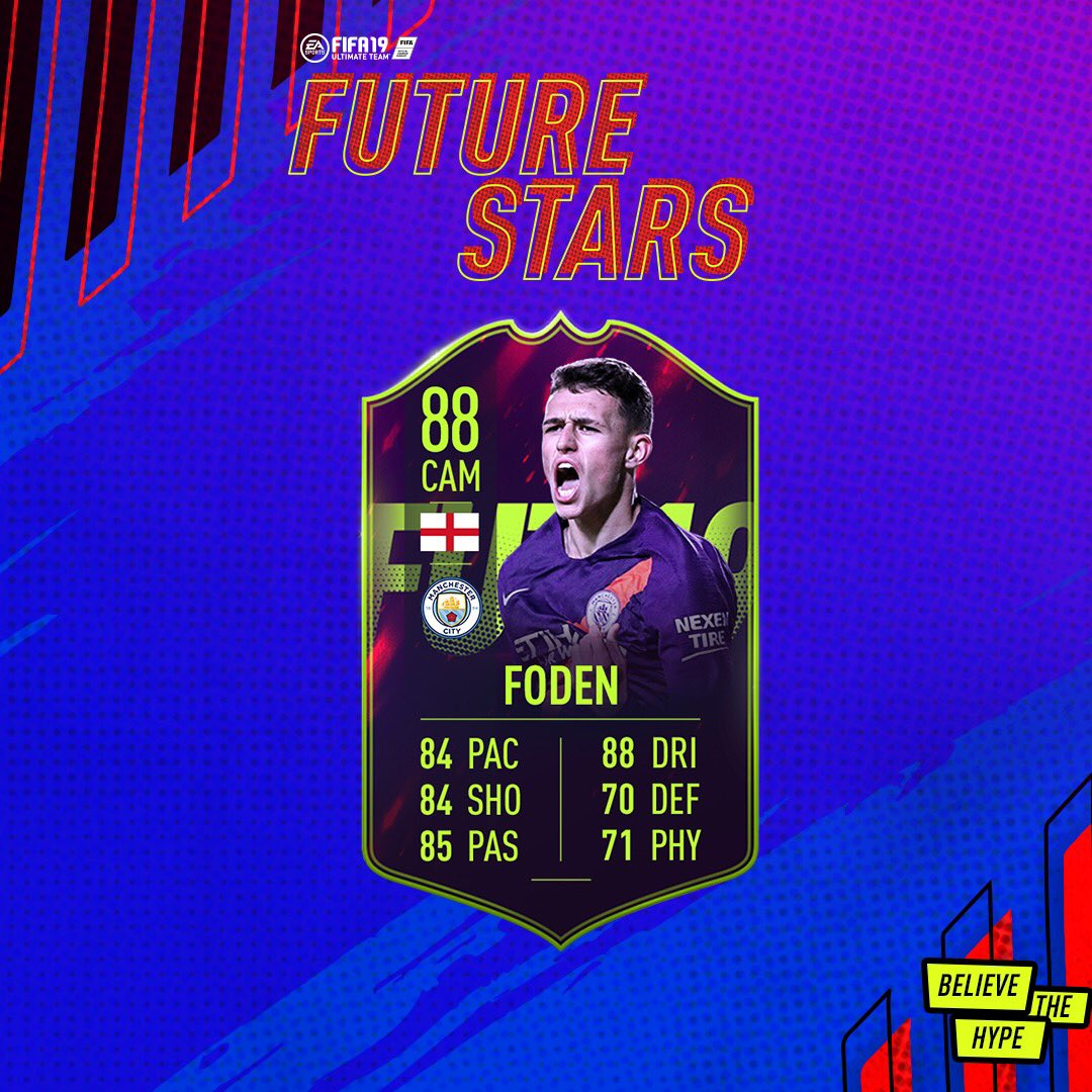 88 OVR 🔥🔥 buzzing to be chosen by @EASPORTSFIFA as one of the FUT Future Stars #FIFA19 🙌🏼