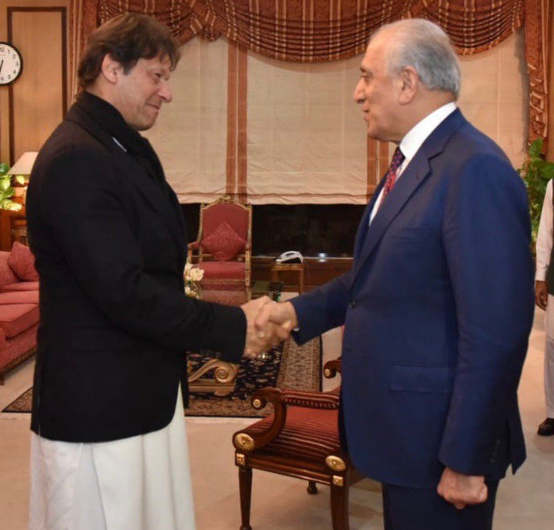 "Once upon a time many liberals declared him Taliban Khan today they need to accept ""He is a Khan but not a terrorist""US special representative for Afghanistan ⁦@US4AfghanPeace⁩ thanked ⁦@ImranKhanPTI⁩ for the efforts of Pakistan made for peace in Afghanistan <br>http://pic.twitter.com/r8WAeU1bC2"