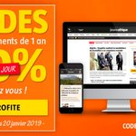 Image for the Tweet beginning: SOLDES : 50 % sur