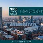 Image for the Tweet beginning: NICE 2019: Transforming care -