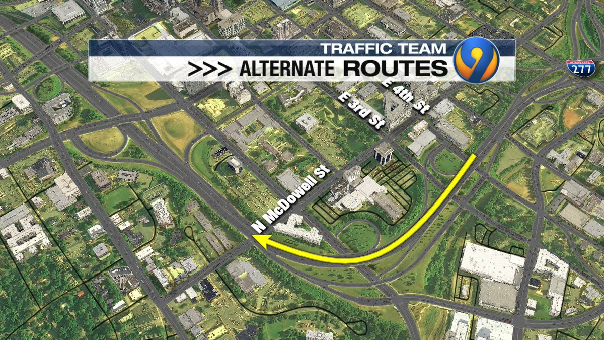 UPDATE: Crews will shift bridge construction from IB Independence to IL John Belk Frwy further down the road on IL John Belk over 3rd, 4th &amp; McDowell St. which will be down to 1 lane.  They hope to have it wrapped before the All-Star game next month. #cltraffic #clttraffic #clt<br>http://pic.twitter.com/RdFIroTccY