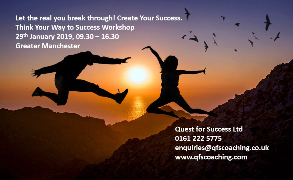 Quest for Success have 4 places left on their Think Your Way to Success Workshopin Greater Manchester. Powerful thinking for excellent results. Register at  http://www. qfscoaching.com     #successfulminds #getahead #empowerment #coaching #nlp<br>http://pic.twitter.com/5cKDr3YwuT