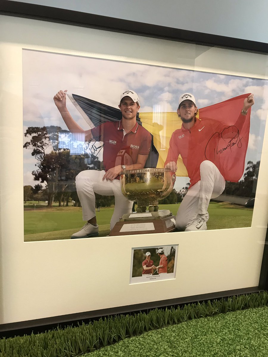 New decoration in our GV Office ! <strong>@WorldCupofGolf</strong> #winners <strong>@Thomas_Pieters</strong> <strong>@tomdetry</strong> #proudfederation https://t.co/ZpaET044KU