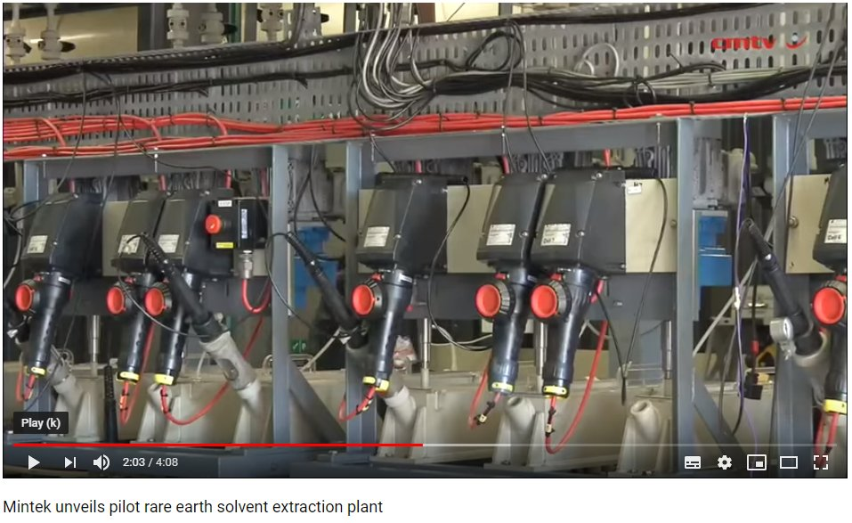 #FlashBackFriday to when @Mintek_RSA unveiled the rare earth solvent extraction pilot plant. Watch the full video here https://goo.gl/Z2RYFW
