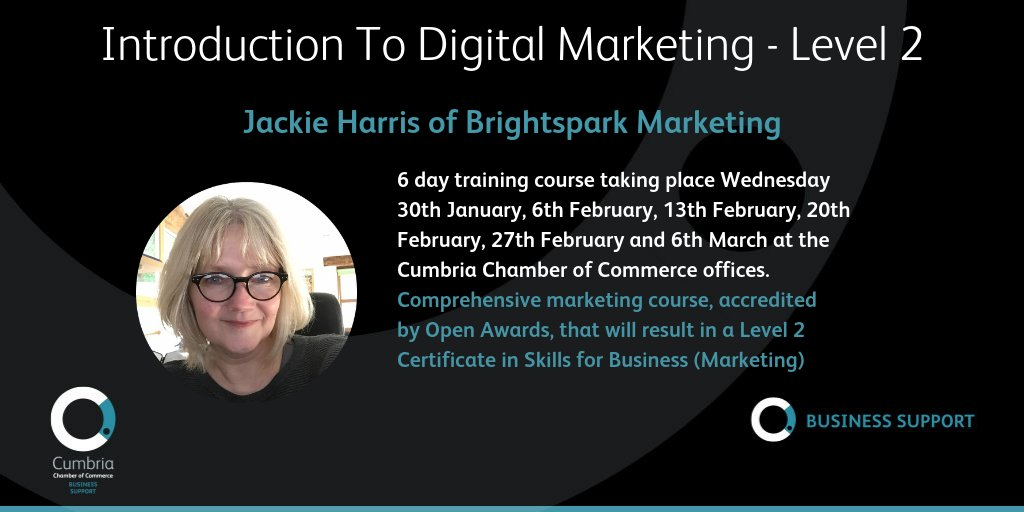 test Twitter Media - Introduction to Digital Marketing – Accredited Qualification with @jackieharris of Brightspark Marketing at the Cumbria Chamber of Commerce offices in Carlisle. More details and booking info at https://t.co/jpP0OZIOXb https://t.co/6Mw2yWt3Zu