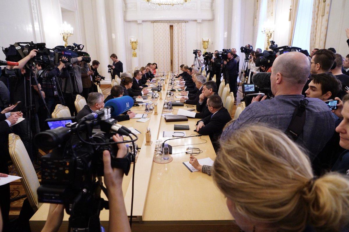 #Лавров : По линии наших правительств, регионов России и Германии, бизнеса контакты – весьма интенсивные. Они дополняются очень неплохим взаимодействием во внешнеполитической сфере, о чём мы уже говорили сегодня и сейчас продолжим наш диалогhttps://t.co/NdYmvb9ZIg