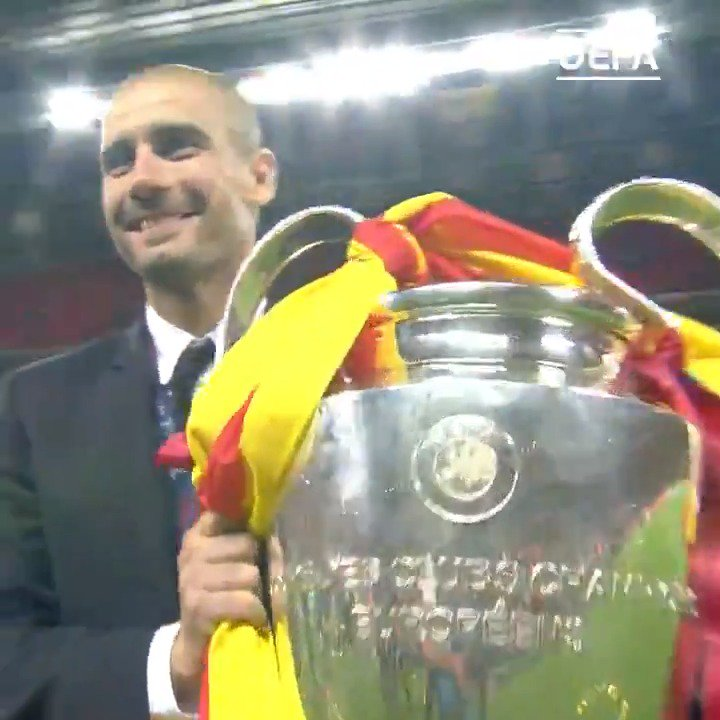 1⃣9⃣9⃣2⃣🏆 2⃣0⃣0⃣9⃣🏆 2⃣0⃣1⃣1⃣🏆  Happy birthday, Josep Guardiola - one of only seven to lift the #UCL trophy as player & a coach! 🎉🎉🎉