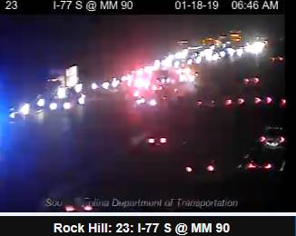 UPDATE - I-77 NB before Carowinds Blvd Exit 90, only one lane open with heavy delays; Alt - US 21 #FtMill #clttraffic #clt<br>http://pic.twitter.com/dnIXp27Xpn