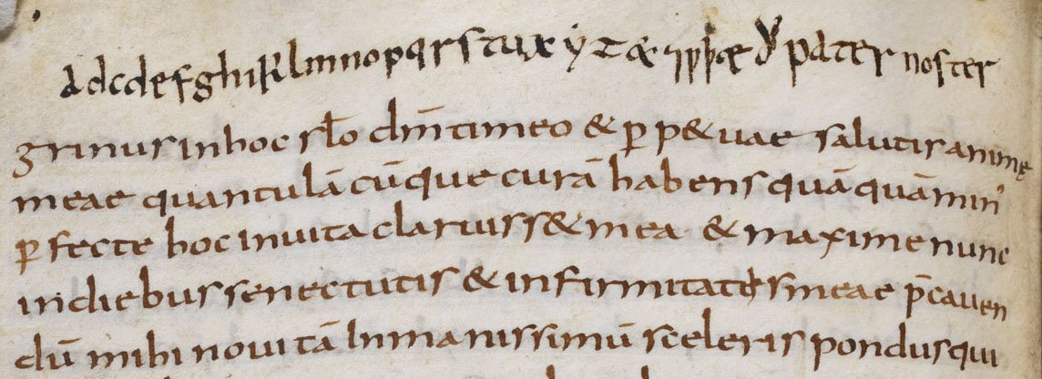 Do you know your abcd from your adcd? Typos are no new phenomenon, with this Anglo-Saxon student clearly needing a helping hand with their alphabet. Learn more about what it was like to be a student in early medieval England: https://t.co/LxjUadLWgU #BLAngloSaxons