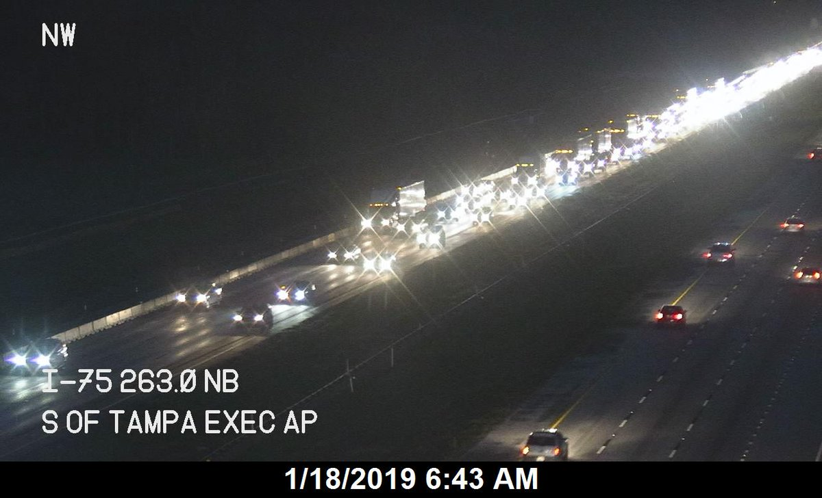 I-75 TAMPA: THIS makes more sense! FHP reported stalled semi on SB 275, but it&#39;s actually SB 75. 23 minutes right now from Fletcher to I-4. Add on extra time for your commute!! <br>http://pic.twitter.com/u4EW2QjnkZ