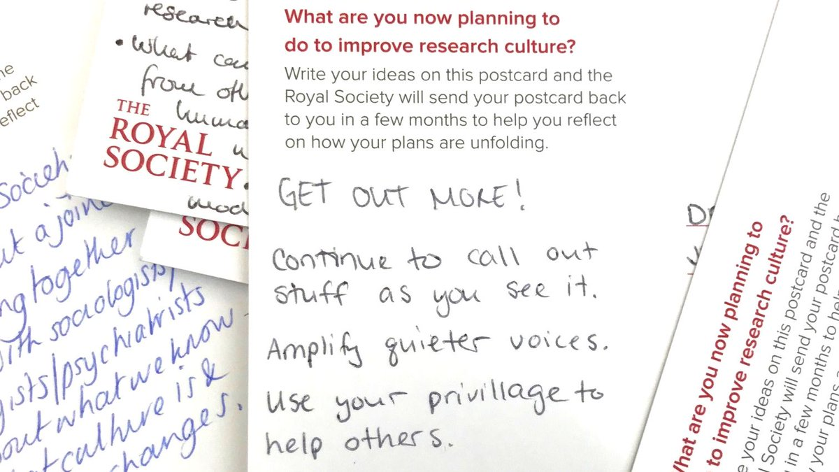 We've been sending out the postcards you wrote to yourselves at our landmark Research Culture conference. How have you done? Do you have more plans? Let us know https://t.co/AO6ooZFKb3 #sciculture