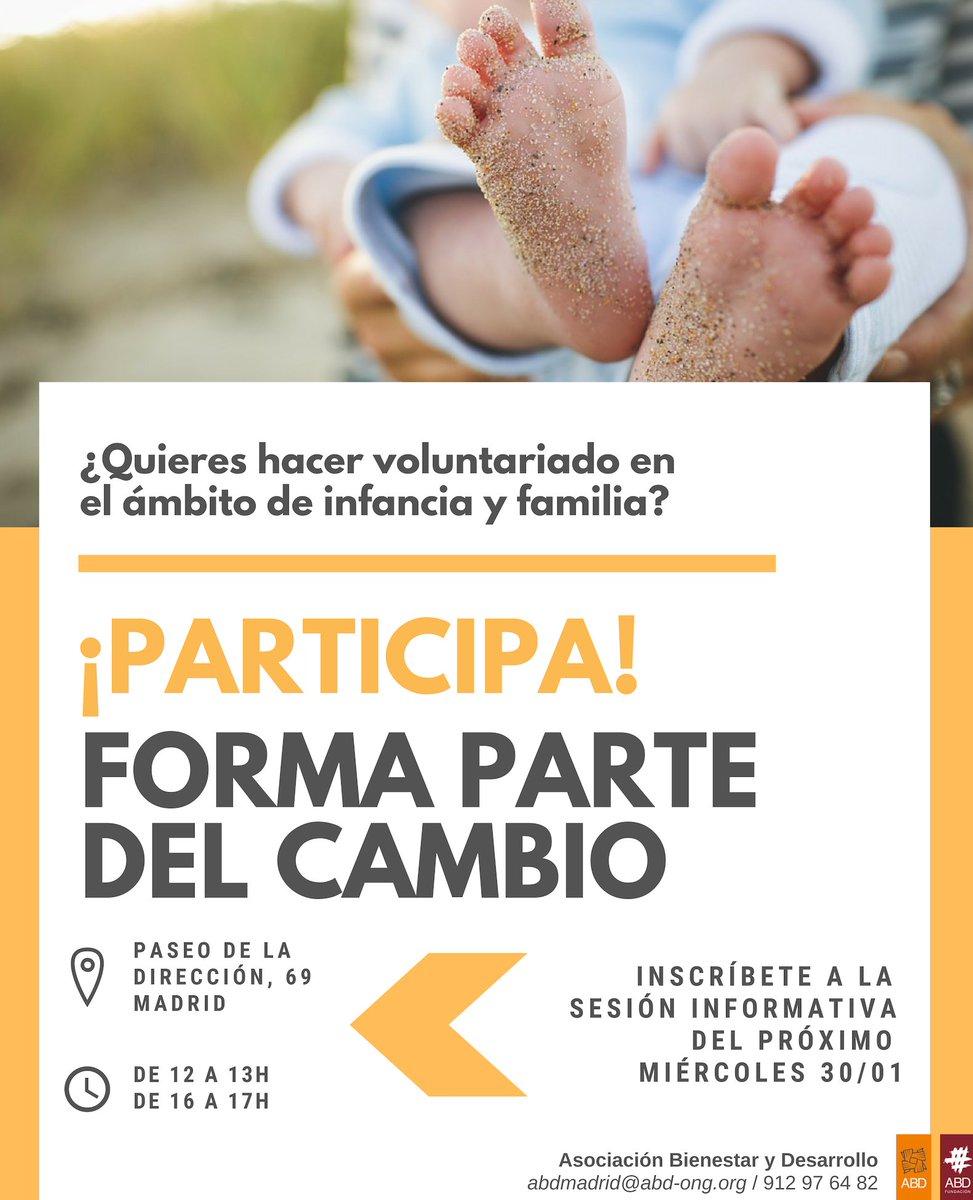 test Twitter Media - 👶👧 ¿Te gustaría hacer voluntariado en infancia y familia con #ABD, en Madrid?  Ven a la sesión informativa: 📆 Miércoles 31/01  🕙 De 12 a 13h o de 16 a 17h   📍 En el Paseo de la Dirección 69, Madrid  Inscríbete👉 https://t.co/I1HxMHqYTb   abdmadrid@abd-ong.org o 912 976 482 https://t.co/nOQq77TJ4I