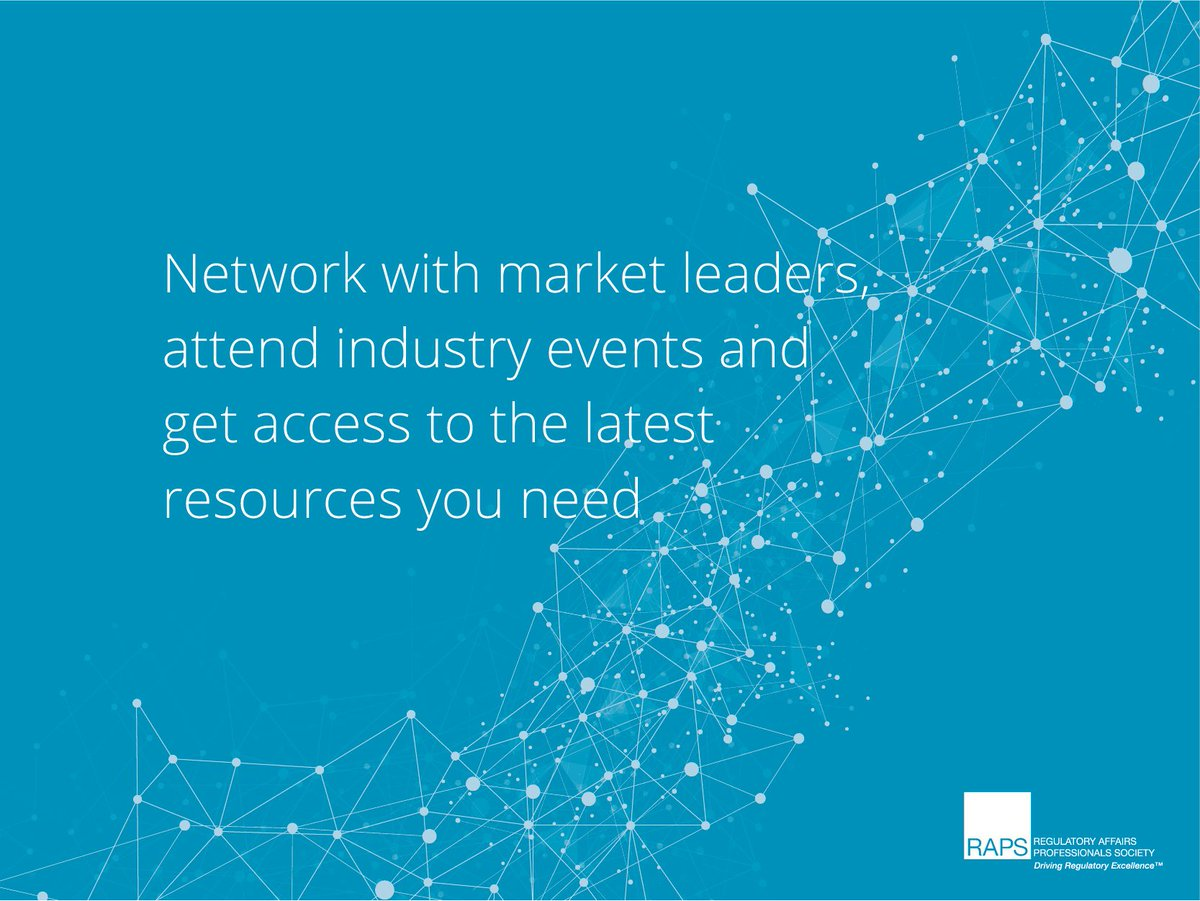 Get the support of your peers, network with industry leaders and attend insightful events by becoming a RAPS member today: https://bit.ly/2P5rvpD