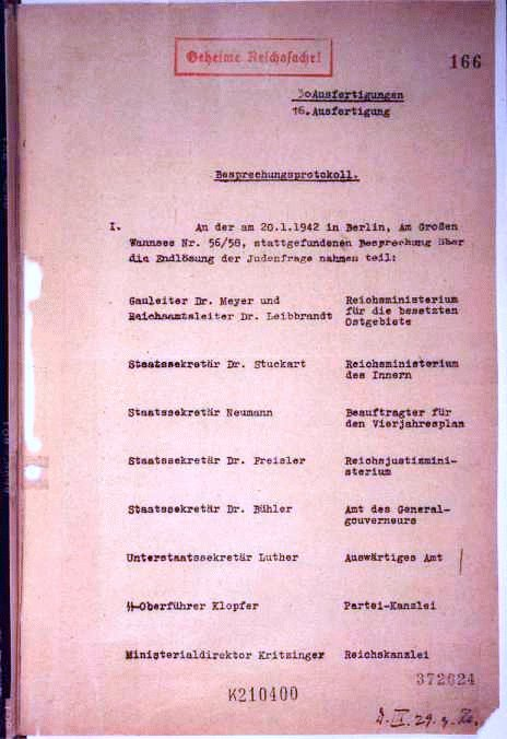#OTD in 1942 a conference was held in the Berlin suburb of Wannsee. It was to ensure the implementation of the so-called Final Solution to the Jewish Question, whereby most of the Jews of German-occupied Europe would be deported to occupied Poland and murdered. #GermanCrimes