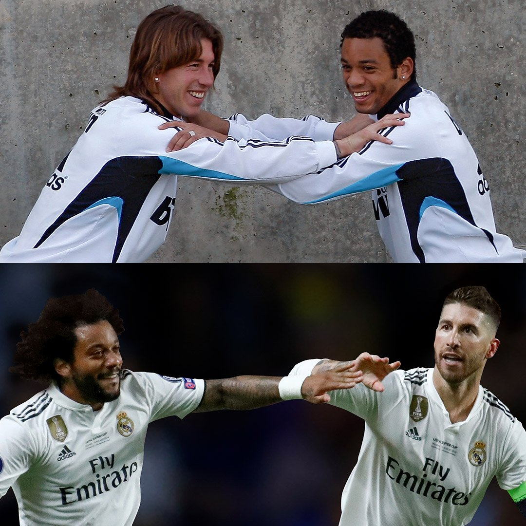 #10YearChallenge @SergioRamos 🙌 @MarceloM12