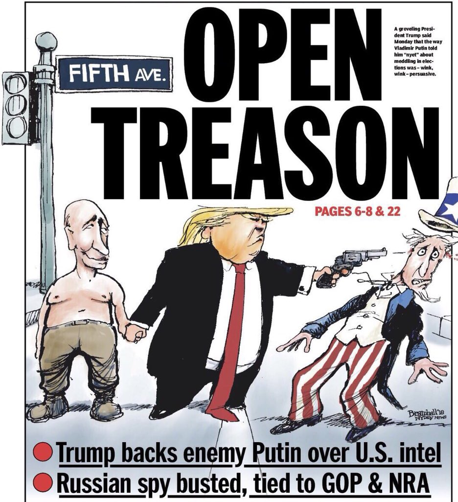 Maybe not.  Maybe there is no coercion, that a bankrupt, divisive, mostly illiterate narcissist just wanted to be like Putin.  #idol