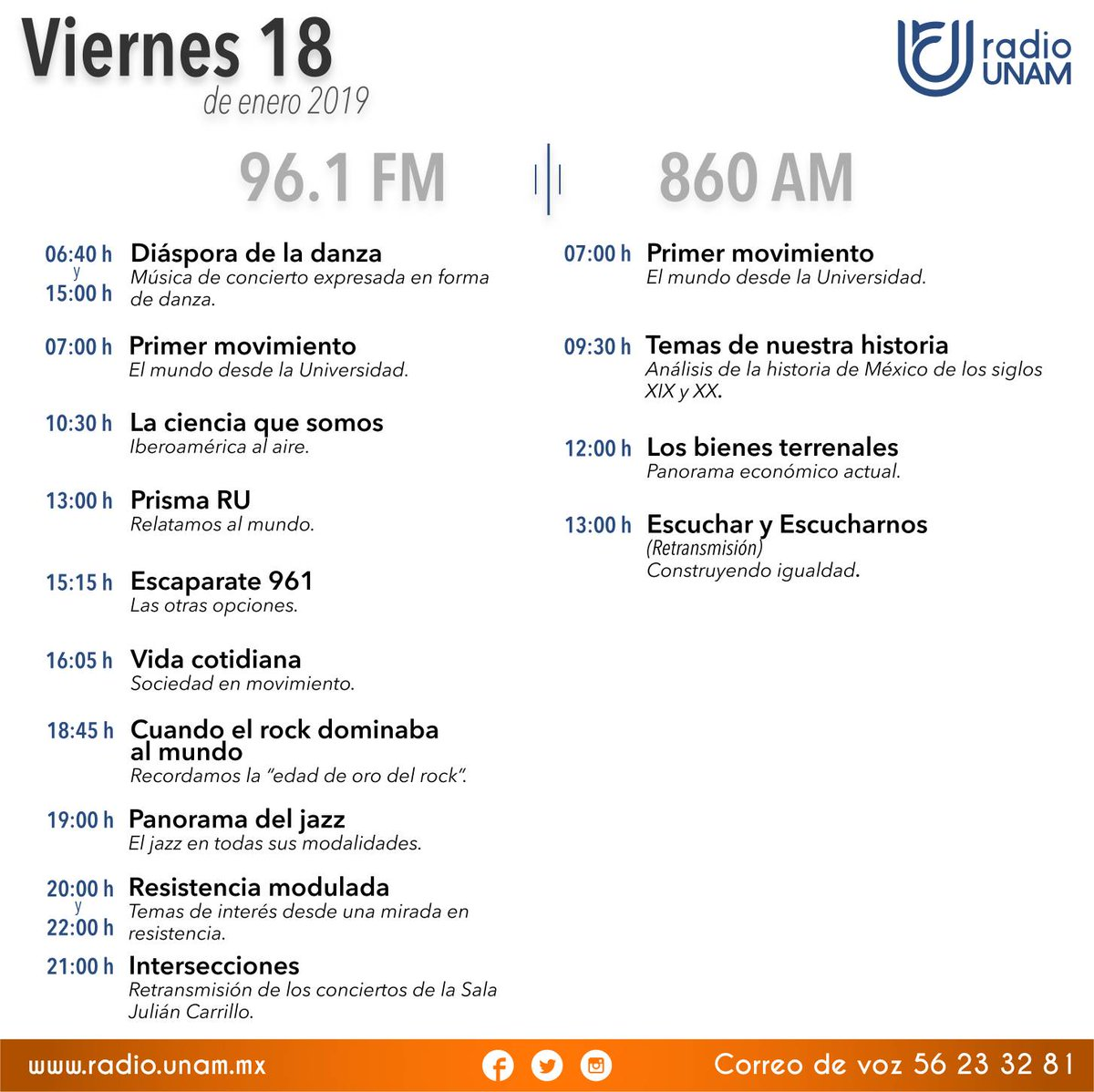 Radio UNAM's photo on #FinDeSemana