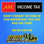 Turn your radios all the way up and tune in to @Streetz945atl for income tax updates and tips from our tax expert, David 🔊  We're live now!