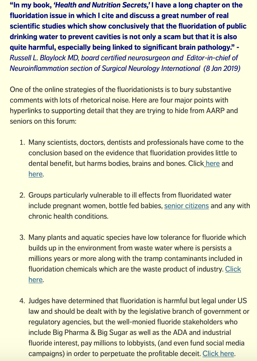 #AARP should join @ChildrensHD  & others in condemning #fluoridation policy https://tinyurl.com/yd7tbu25 & https://tinyurl.com/ybdlv8of/@MichaelEFesta… @AARPadvocates @AARPpolicy @RWJF @policyDeb @SusanPolicy @NancyLeaMond @JoAnn_Jenkins @NBarracca @LindsayChura @EpiAA50 @katezhongmd @CarpAdvocacy