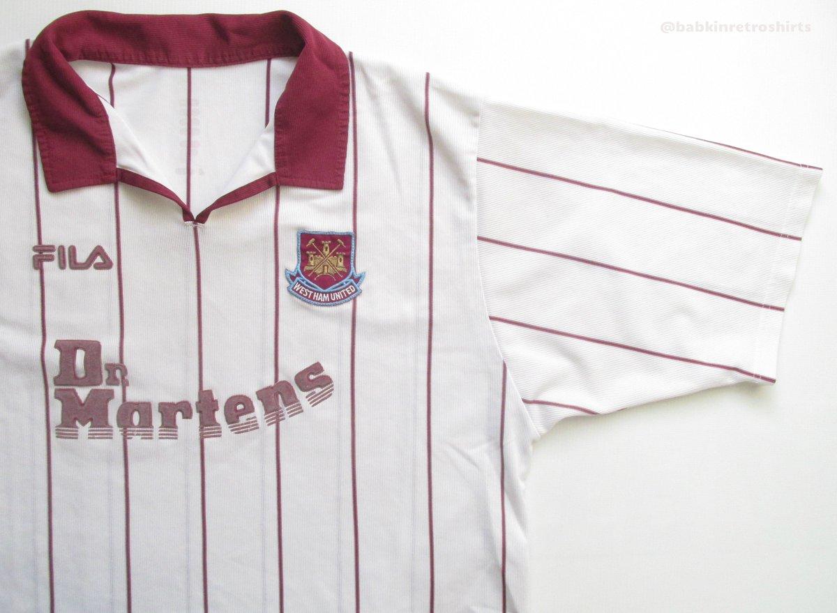 2002/03 @WestHamUtd away #footballshirt by @FilaUK  https://ebay.to/2Cw8jgt #WestHam #WestHamUnited #WHU #WHUFC #drmartens #classicjersey #vintage #vintageforsale #FILA #hammers #premierleague #london #jersey #jersey4sale #babkinretroshirts